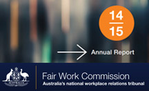Fair Work Commission Annual Report website 2014-15 thumbnail